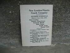 1931 New London-Niantic Coach Company Summer Schedule