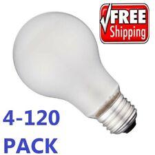 Incandescent Light Bulbs 100 Watt Heavy Duty Frosted Household - 4-120 Bulbs