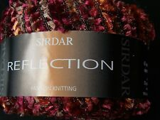 2 x 25g SIRDAR REFLECTION Metallic Yarn. Burgundy/Beige/Amber Knit/Crochet/Weave