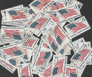 Postage Stamps For Crafting: 1959 4c US Flag, 49 Stars; Blue/Red; 50 Copies