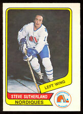 1976 77 OPC O PEE CHEE WHA #127 STEVE SUTHERLAND NM QUEBEC NORDIQUES HOCKEY CARD