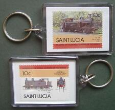 1897 Taff Vale Railway (TVR) No.28 0-6-2T Train Stamp Keyring (Loco 100)