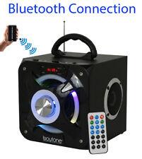 Boytone BT-32D Portable Bluetooth Speaker FM Radio Stereo, USB, SD Port, Light