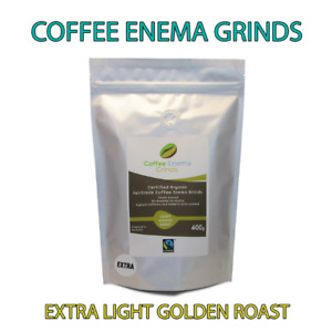 COFFEE ENEMA GRINDS EXTRA LIGHT GOLDEN ROAST ORGANIC GERSON AIR ROASTED 400g AUS