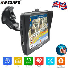 """AWESAFE 7"""" GPS Navigation For Cars Lorry Sat Nav with Sun shield Free Europe Map"""