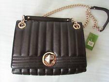 KATE SPADE NY GOLD COAST MARYANNE Black Quilted Leather Shoulder Purse Bag $375