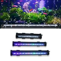 RGB LED Aquarium Air Bubble Fish Tank Lights Multi-color Submersible Lamp 3 Size