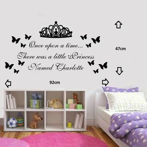 Personalised Princess Wall Art Sticker/Decal