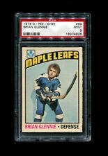 1976 Brian Glennie OPC #99 O Pee Chee Maple Leafs PSA 9
