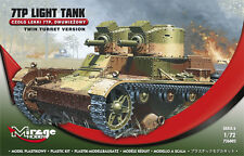 7TP LIGHT TANK-TWIN TURRET VERSION, MIRAGE HOBBY 726002, SCALE 1/72