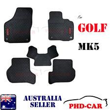 Tailor Made custom-made rubber car floor mats for VW GOLF MK5 Black Trim