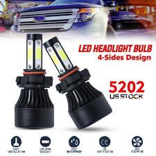 5202 H16 4-Sides LED Headlight Kits High Power Fog Bulbs 72W 16000LM  6500K Lamp