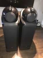 B&W Nautilus 802D Bowers and Wilkins Speakers Black Ash Can Hand Deliver*