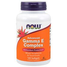 Vitamin E, Gamma E Complex, 120 Softgels, Advanced - NOW Foods
