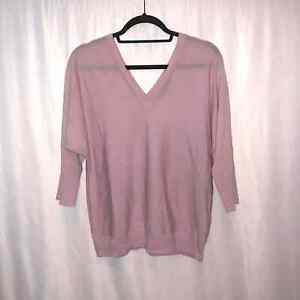 Banana Republic Womens Wool V-Neck Pullover Top Size Large