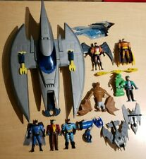 Vintage Batman Batplane and Animated Series Action Figures 1990's large lot