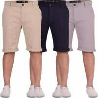 Crosshatch Mens Chinos Shorts Plain Cotton Smart Casual Summer Holiday Short