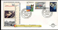 Netherlands 1989 Railways FDC First Day Cover #C27951