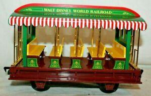 NICE Disney World Disneyland Railroad OPEN TRAM PASSENGER CAR~for LGB Gauge~Mint