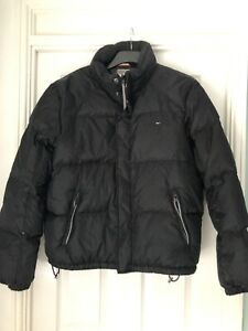 tommy hilfiger denim puffer jacket medium