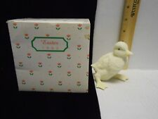 """1993 Department 56 Snowbunnies Easter Duck Figurine 3 1/2"""" tall in box"""