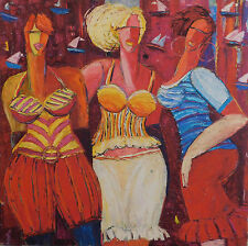 """Izabella Markowska, """"Die drei Grazien"""" 100 x 100 cm auf Leinwand"""