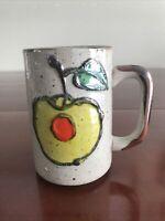 VTG OMC Otagiri Japan Fruit W/ Pit & Stem Speckled Coffee Mug Tea Cup MCM