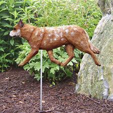 Australian Cattle Dog Outdoor Garden Sign Hand Painted Figure Red