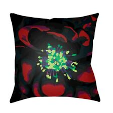 Abstract Floral by Surya Pillow, Lime/Dk.Red/Black, 20' x 20' - AF009-2020