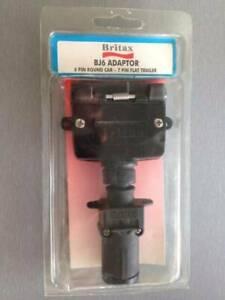 BRITAX (7-PIN FLAT FEMALE to 6-PIN SMALL ROUND MALE) TRAILER ADAPTOR Narva 82220