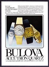 "1978 Bulova Accutron Quartz 4 Watch photo ""Wear Tomorrow Today"" promo print ad"
