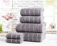 """Rapport 100% Cotton """"Sandringham"""" Bathroom 6pc Towel Bundle 4 Colours Available"""