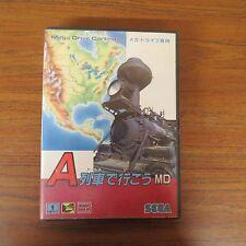 + TAKE THE A TRAIN Mega Drive SEGA Import Japan Game md