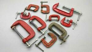 Ten Assorted G Clamps Sizes 25mm To 80mm
