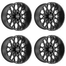 """Set 4 20"""" Vision 412 Rocker Black Wheels 20x9 8x170mm 12mm Ford F250 F350 8 Lug"""
