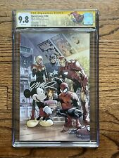Marvel Comics #1000 CGC 9.8 SS D23 Expo 1st Mickey Mouse Cover Signed H. Ramos