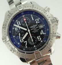 Breitling Skyland Avenger Automatic Chronograph Black Dial Steel Bx/Prs A13380