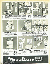 PUBLICITE ADVERTISING 036  1965  Moulinex   robots aspirateur  séche-cheveux com