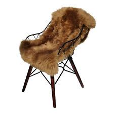 peau de mouton NOIX 90-100 cm mérinos fourrure véritable tapis d'entrée déco
