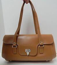 Lancaster Paris Camel Leather East West Shoulder Bag