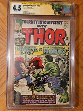 Journey into Mystery 112 SS CGC 4.5 signed by Stan Lee. 1st Hulk vs Thor cover