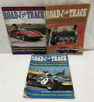 Lot 3 Road & Track Magazine 1970 August November December