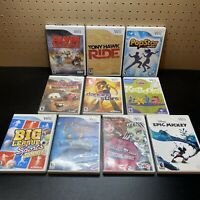 10 Game Wii Lot:Monster High Ghoul Spirit,Cars,Kabookii,Tony Hawk Ride,Popstar &