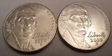 2006 P & D JEFFERSON NICKEL SET (2 COINS)  **FREE SHIPPING**