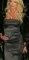 AUTH Dolce&Gabbana Silk polka dot strapless sheath Dress 40