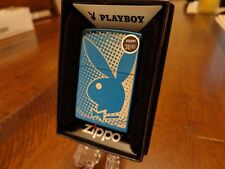 PLAYBOY BUNNY SAPPHIRE ZIPPO LIGHTER MINT IN BOX 2015