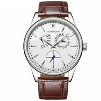 Luxury Modern Men Watch Date Week Indicator Quartz Steel Sapphire Crystal Dial