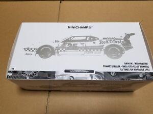 "MINICHAMPS BMW M1 "" RED LOBSTER "" RIVERSIDE 1981 180 812925 1/18"