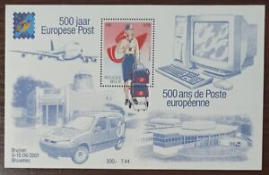 3121 - Belgium - 2001 - 500th Anni of the European Mail - Block of 1 s MNH - 500