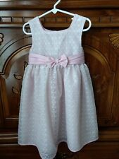 Girl's Sz 5 GEORGE Pink And White Lace Sleeveless Dress